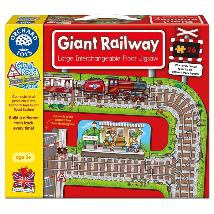 Orchard Toys - Giant Railway Jigsaw - Grace Baby