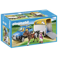 Playmobil Country Farm - SUV with Horse Trailer 5223 - Grace Baby