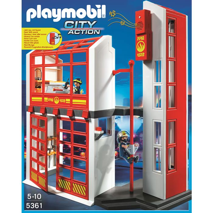 Playmobil Fire Brigade Fire Station With Alarm 5361 Grace Baby