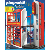 Playmobil Fire Brigade - Fire Station with Alarm - 5361 - Grace Baby