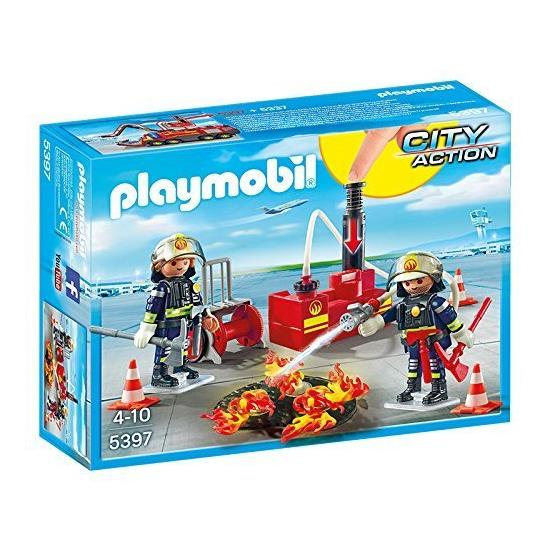 Playmobil Fire Brigade - Firefighting Operation with Water Pump 5397 - Grace Baby