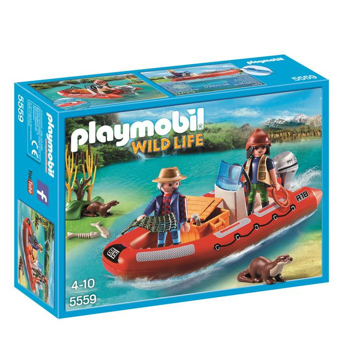 Playmobil - Inflatable Boat with Explorers - 5559