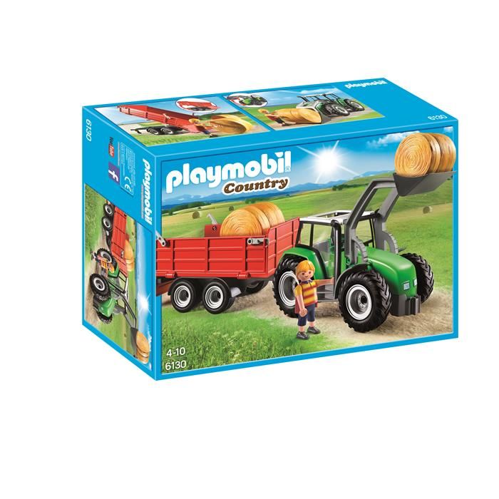 Playmobil Country Farm - Large Tractor with Trailer 6130 - Grace Baby