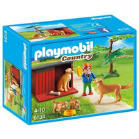 Playmobil Country Farm - Golden Retrievers with Toy - Grace Baby