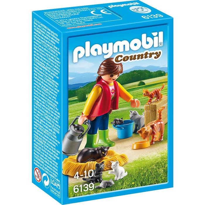 Playmobil Country Farm - Woman with Cat Family 6139 - Grace Baby