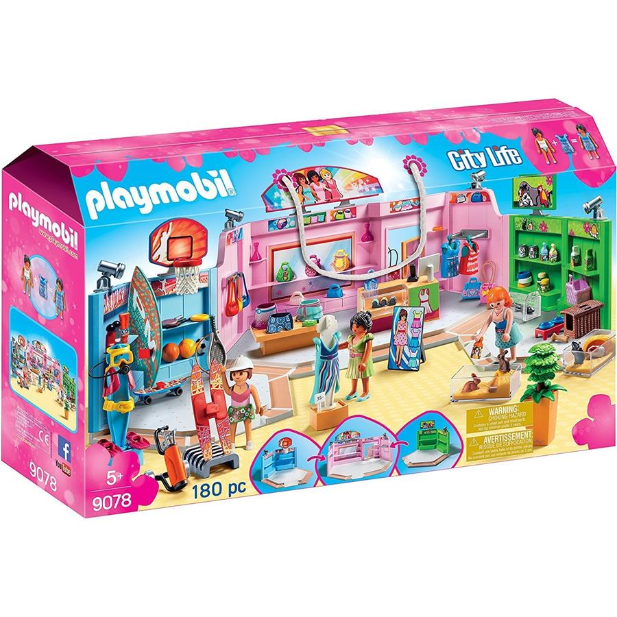 Playmobil - City Life - Shopping Plaza 9078 - Grace Baby
