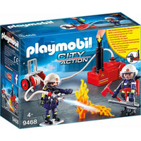 Playmobil Fire Brigade - Firefighters with Water Pump 9468