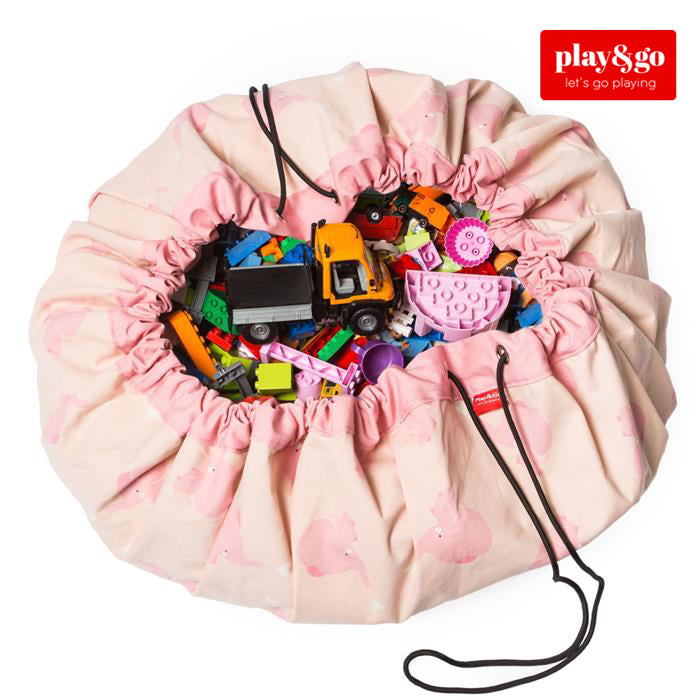 Play&Go - Toy Storage Bag - Pink Elephant - Grace Baby