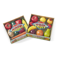 Melissa & Doug Play-Time Produce Fruit and Vegetable Set Package - Grace Baby