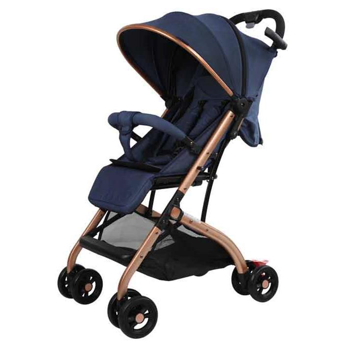 Aussie Baby Smart Travel Pram - Blue - Grace Baby