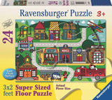 Ravensburger - City Streets Super Size Floor Puzzle - 24 Pieces - Grace Baby