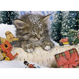 Ravensburger - Cat in the Snow Tin Box Puzzle 80pc - Grace Baby