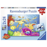 Ravensburger - Colourful Underwater World Puzzle 2x24pc - Grace Baby