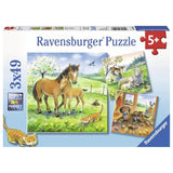 Ravensburger - Cuddle Time Puzzle 3x49pc - Grace Baby
