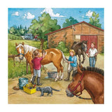 Ravensburger - A Day With Horses Puzzle 3x49 pieces - Grace Baby
