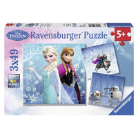 Ravensburger - Disney Frozen Winter Adventures Puzzle 3x49pc - Grace Baby