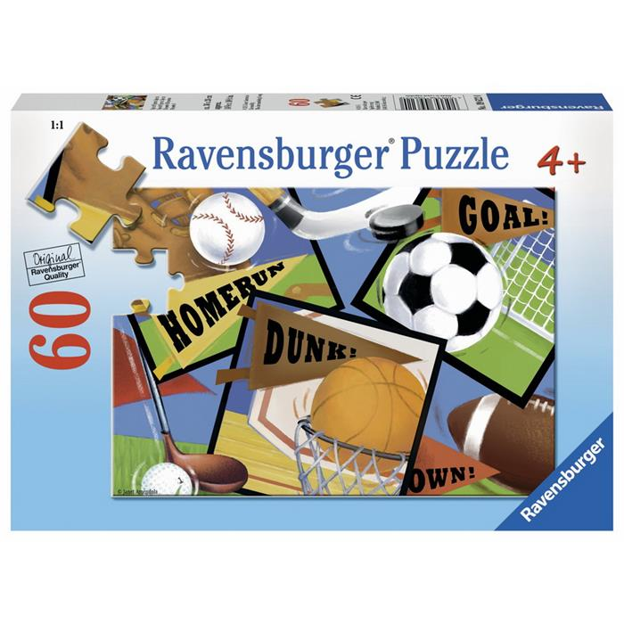 Ravensburger - Sports! Sports! Sports! Puzzle 60 pieces - Grace Baby
