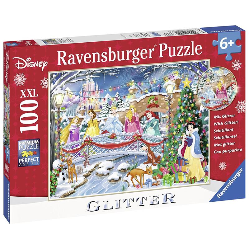 Ravensburger - Disney Princess Glitter Christmas 100pc Jigsaw Puzzle - Grace Baby
