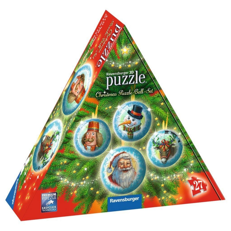 Ravensburger - Christmas Balls 3D Puzzle Ball Set of 4 - Grace Baby