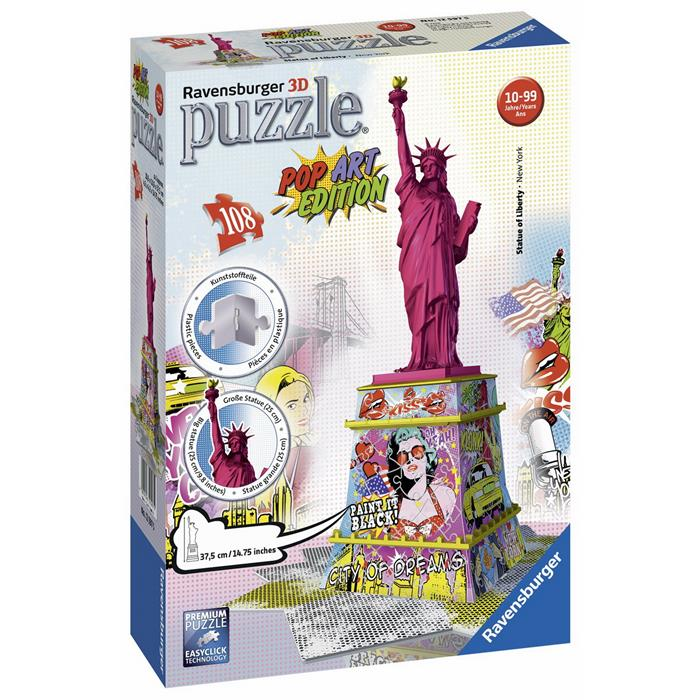 Ravensburger - Statue of Liberty 3D Puzzle - Pop Art Edition - Grace Baby