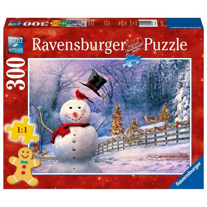 Ravensburger - The Magical Snowman Large Format 300pc Jigsaw Puzzle - Grace Baby