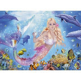 Ravensburger - Blissful Mermaids Glitter Puzzle 100pc - Grace Baby