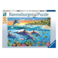 Ravensburger - Dolphin Cove Puzzle 500pc - Grace Baby