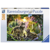 Ravensburger - Wolf Family in Sunshine Puzzle 500pc - Grace Baby