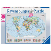 Ravensburger - Political World Map Puzzle 1000pc - Grace Baby