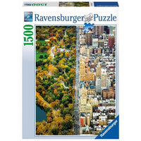 Ravensburger - Divided Town Puzzle 1500pc - Grace Baby