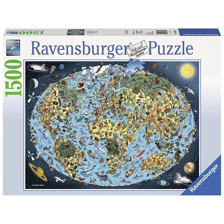 Ravensburger - Cartoon Earth Puzzle 1500pc - Grace Baby