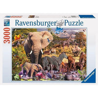 Ravensburger - African Animal World Puzzle 3000pc - Grace Baby