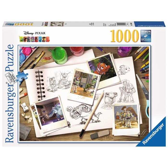 Ravensburger - Disney Pixar Sketches Puzzle 1000pc - Grace Baby