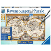 Ravensburger - Touch of Gold - Antique World Puzzle 1200pc - Grace Baby