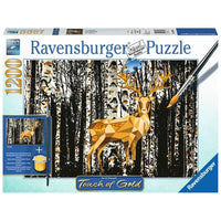 Ravensburger - Touch of Gold - Deer in the Birch Forest Puzzle 1200pc - Grace Baby