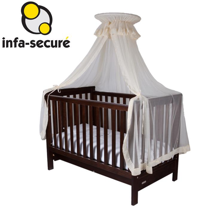Infa Secure Baby Cot Halo Net and Stand - Beige - Grace Baby