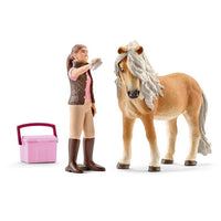 Schleich - Groom With Icelandic Pony Mare 41431 - Grace Baby
