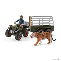 Schleich - Quad Bike with Trailer and Ranger - Grace Baby
