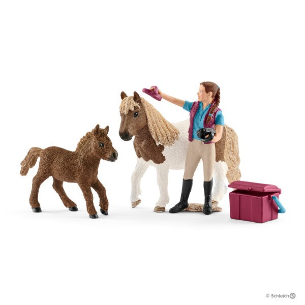 Schleich - Stablehand with Shetland Ponies 42362 - Grace Baby
