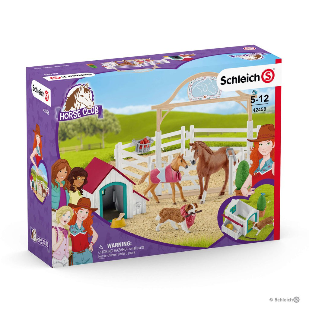 Schleich - Hannah's guest horses with Ruby the dog