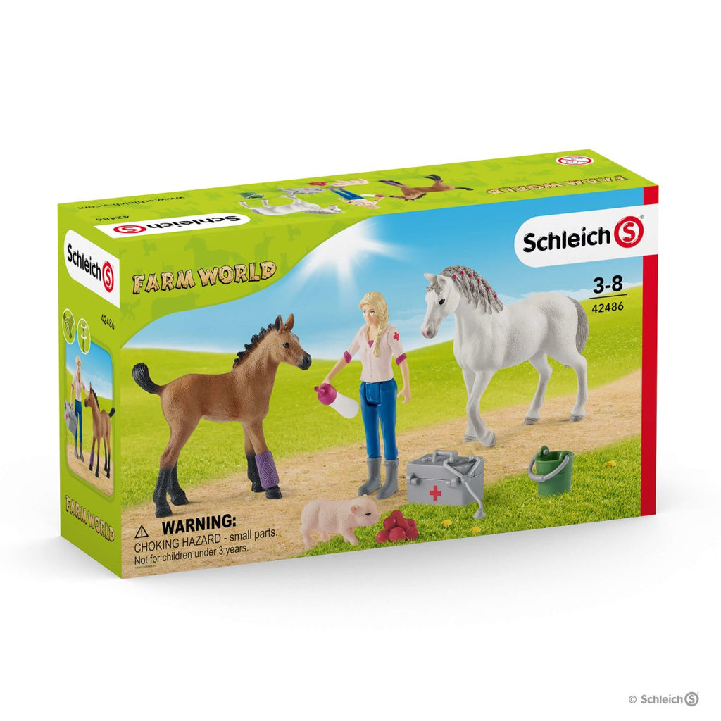 Schleich - Vet visiting mare and foal 42486