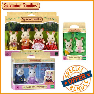 Package Deal - Sylvanian Families Chocolate Rabbit Family Package