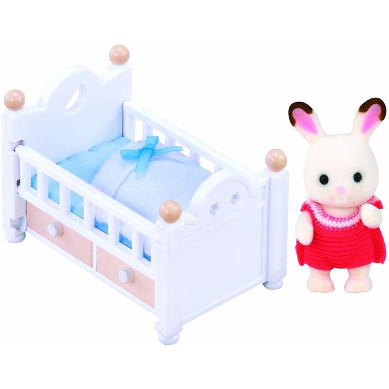 Sylvanian Families - Chocolate Rabbit Baby Set 5017 - Grace Baby