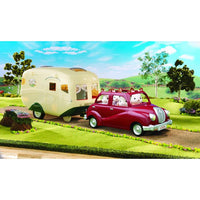 Sylvanian Families Family Saloon Car and Caravan Bundle Package - Grace Baby