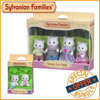 Sylvanian Families Persian Cat Family and Twins Bundle Package - Grace Baby