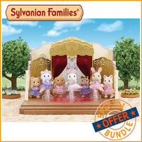 Sylvanian Families Ballet Theatre with Ballerina and Ice Skating Friends Bundle Package - Grace Baby