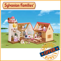 Sylvanian Families Starry Point Lighthouse and Cosy Cottage Bundle Package - Grace Baby