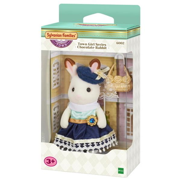 Sylvanian Families - Town Girl Series - Chocolate Rabbit - Stella - Grace Baby