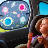 BenBat Space Collection Car Pop Open Sunshade Round (2 Pack) - Grace Baby