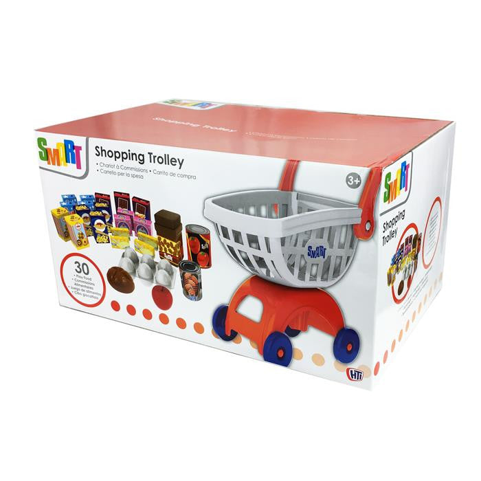 Smart - Pretend Play Toy Shopping Trolley With Accessories - Grace Baby